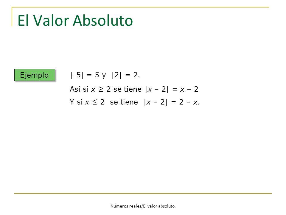 Números reales/El valor absoluto.