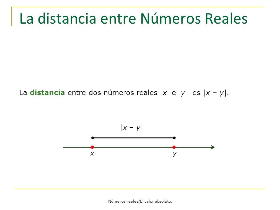 La distancia entre Números Reales