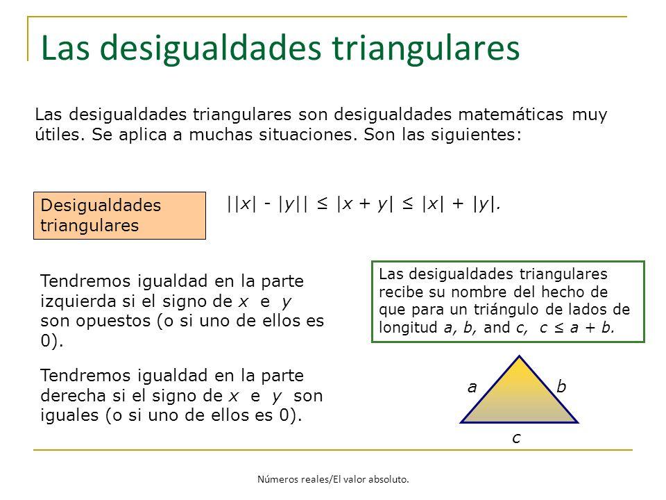 Las desigualdades triangulares