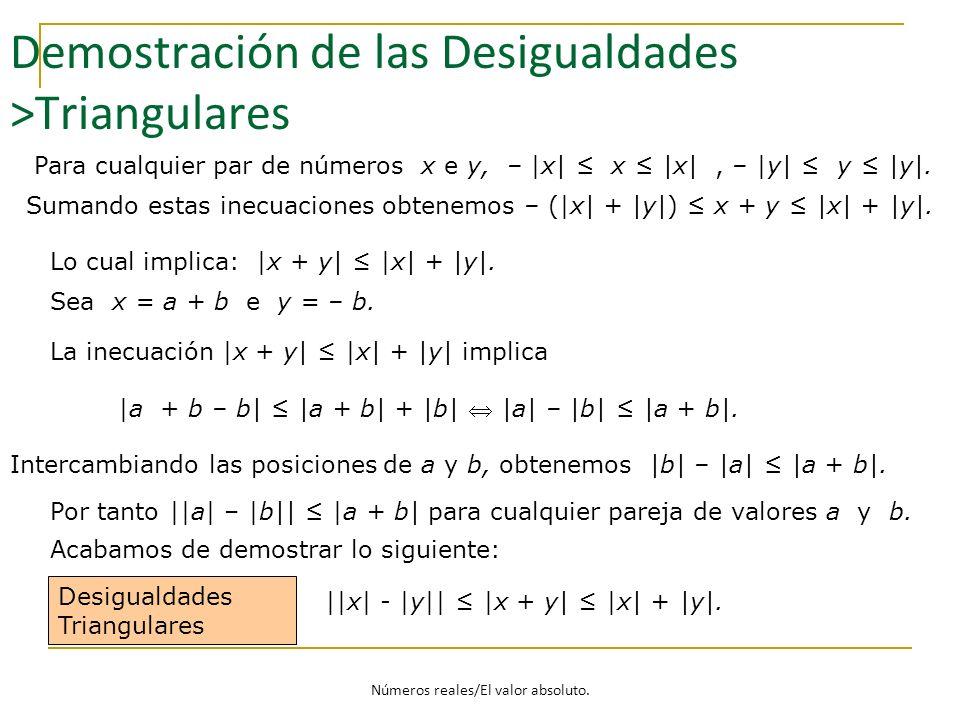 Demostración de las Desigualdades >Triangulares