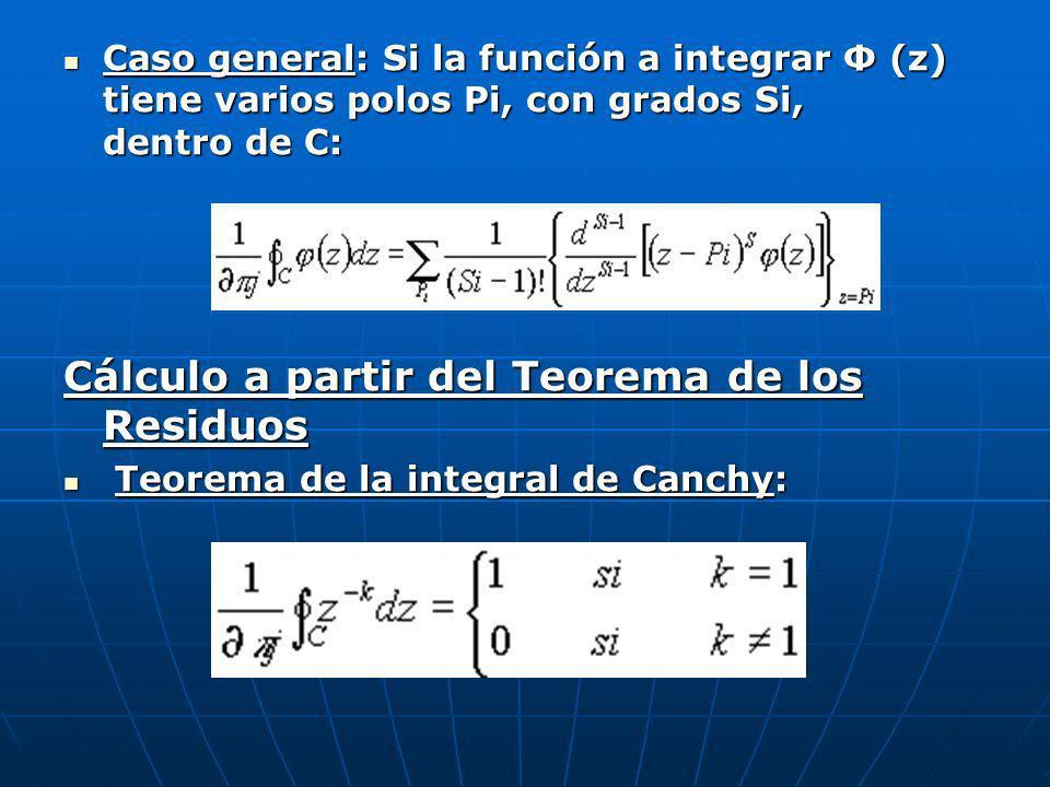 Cálculo a partir del Teorema de los Residuos