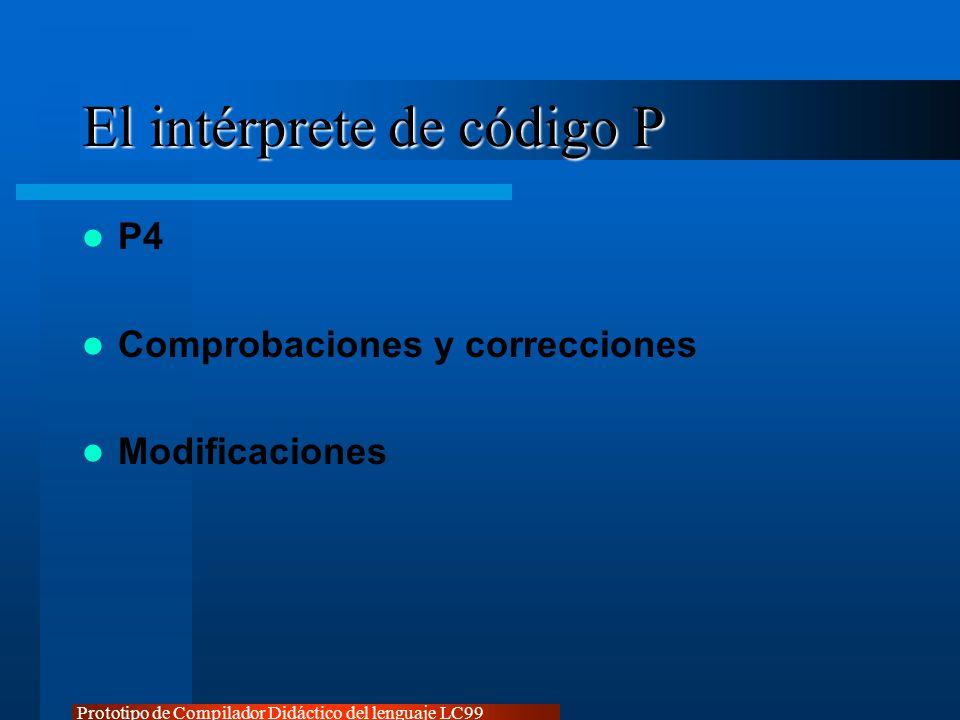 El intérprete de código P