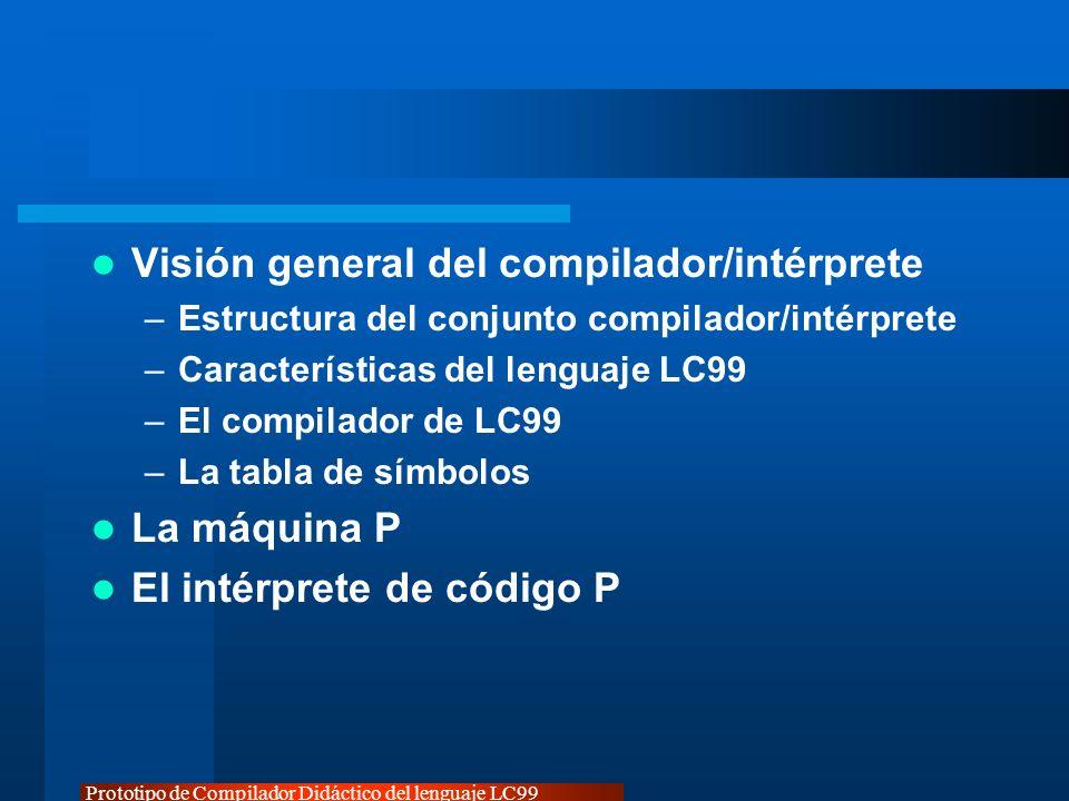 Prototipo de Compilador Didáctico del lenguaje LC99