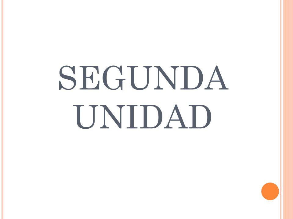 SEGUNDA UNIDAD