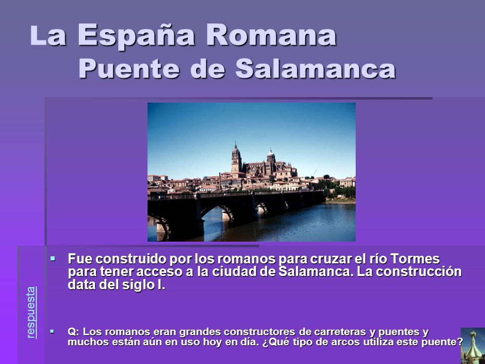 La España Romana Puente de Salamanca