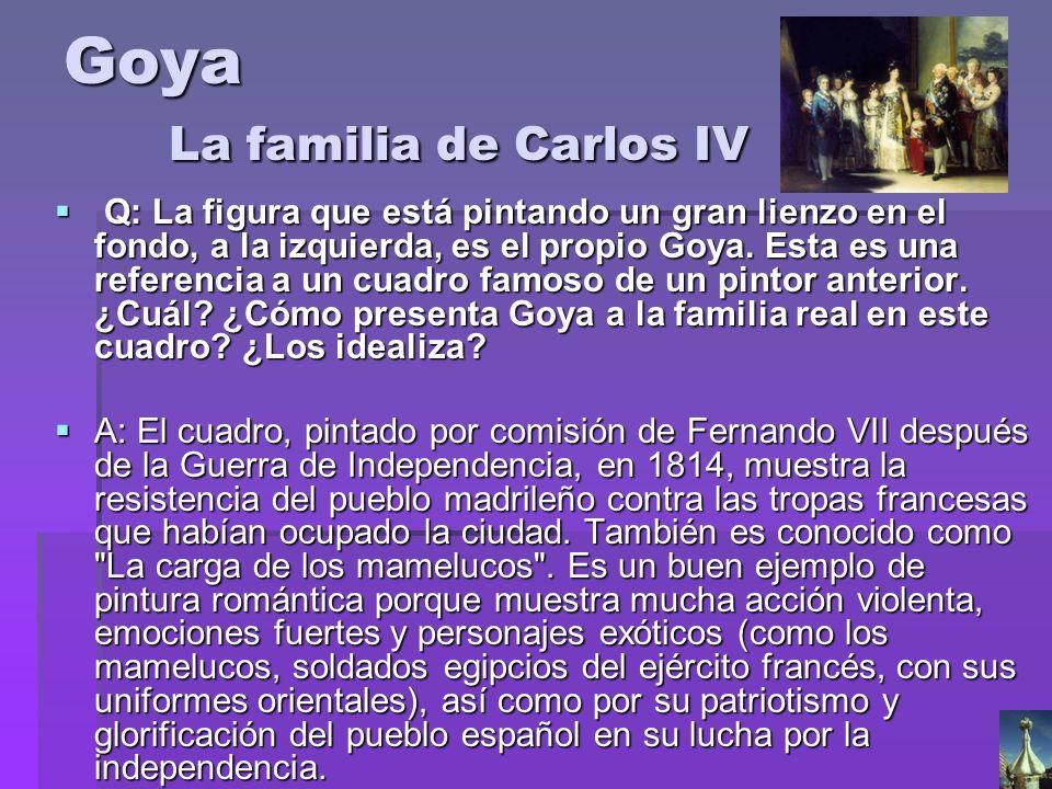 Goya La familia de Carlos IV
