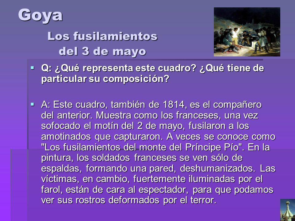 Goya Los fusilamientos del 3 de mayo