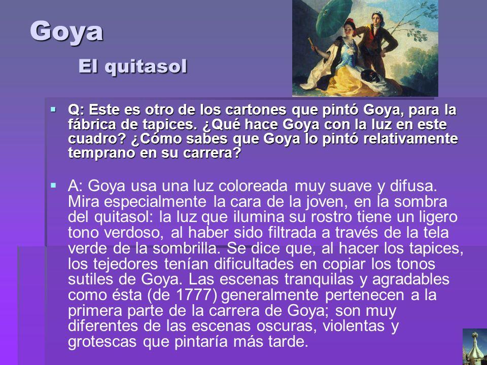 Goya El quitasol