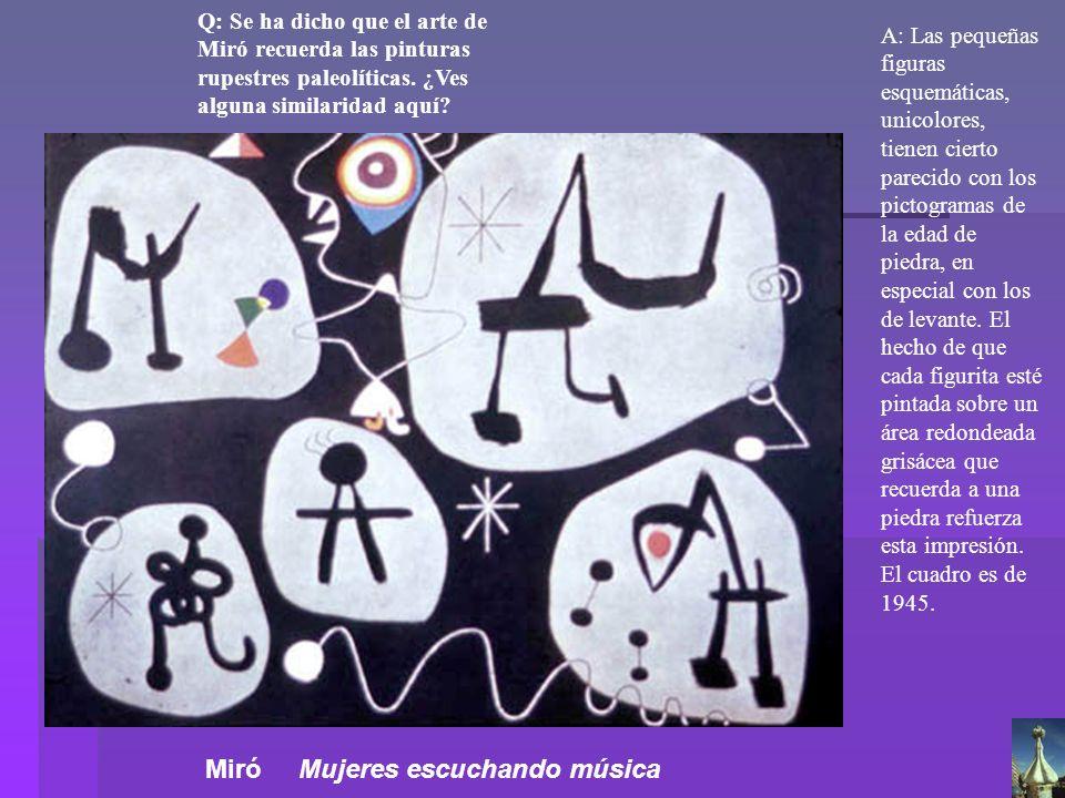 Miró Mujeres escuchando música
