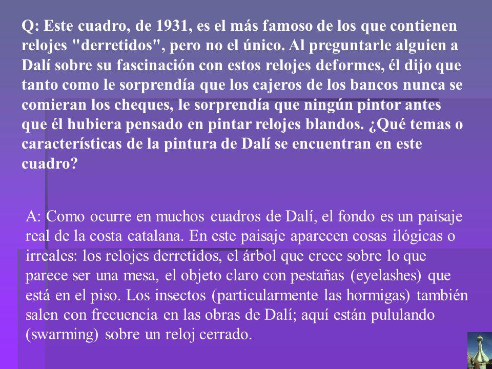 Dalí La persistencia de la memoria