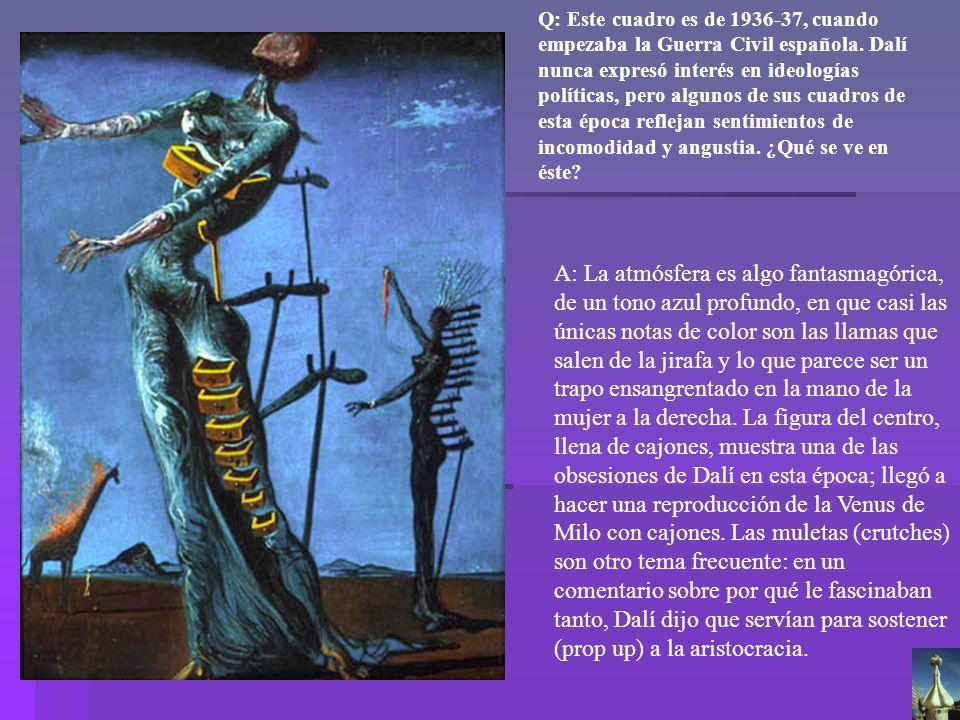 Dalí Jirafa en llamas