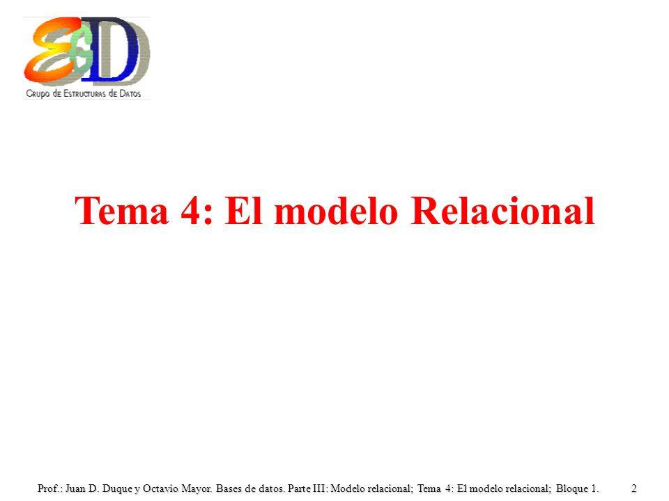 Tema 4: El modelo Relacional