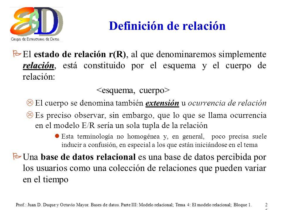 Definición de relación