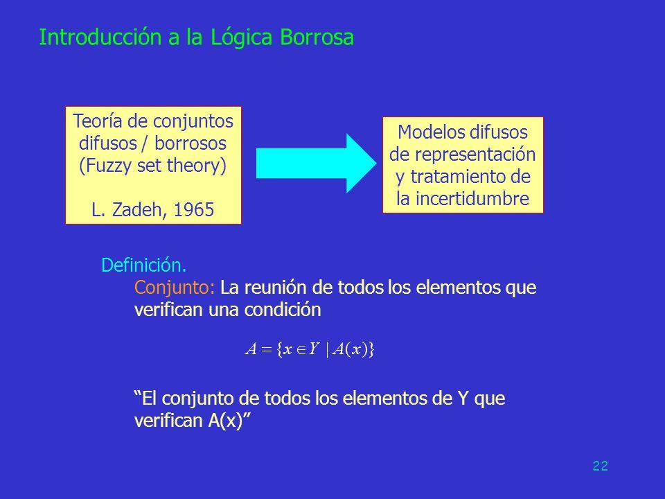 Modelos difusos de representación y tratamiento de la incertidumbre