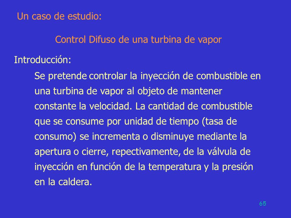 Control Difuso de una turbina de vapor
