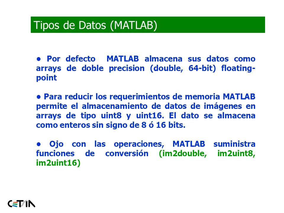 Tipos de Datos (MATLAB)