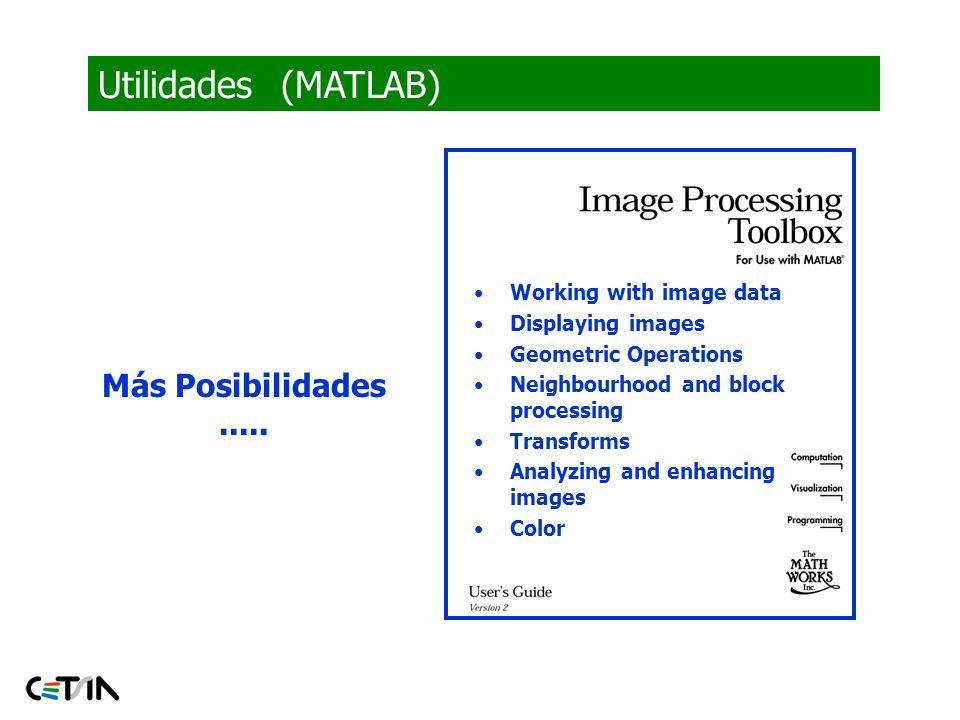 Utilidades (MATLAB) Más Posibilidades ..... Image types