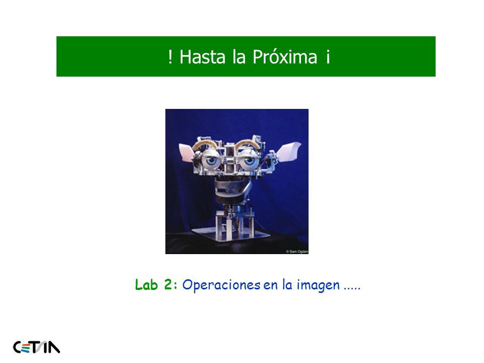 Lab 2: Operaciones en la imagen .....