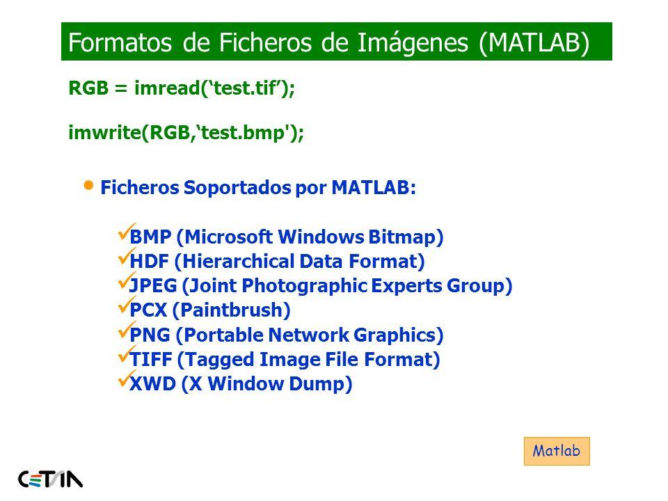 Formatos de Ficheros de Imágenes (MATLAB)