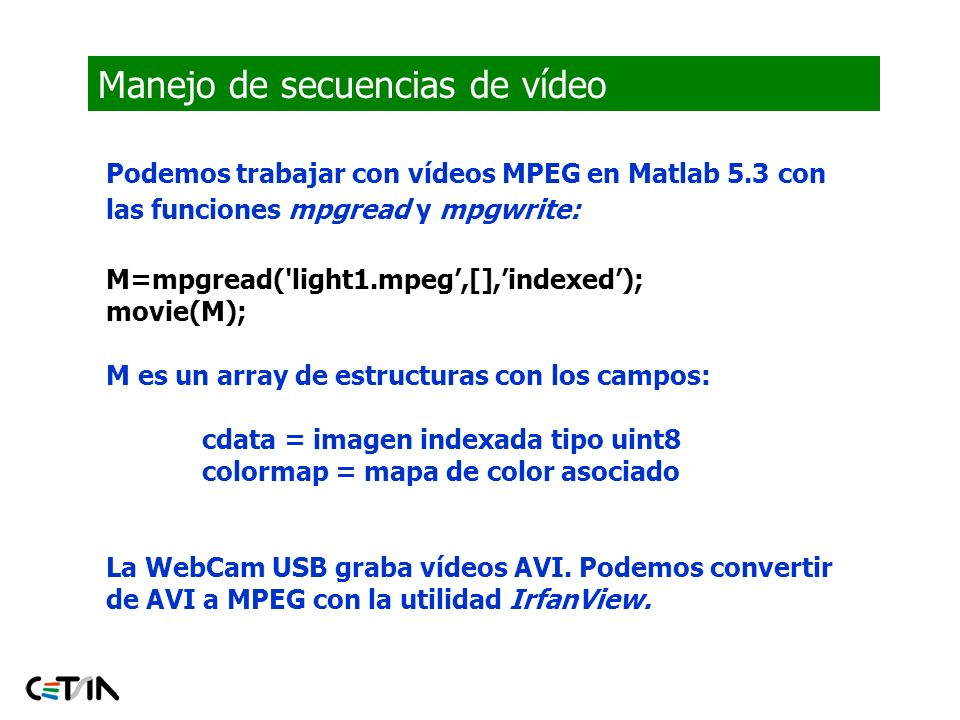 Manejo de secuencias de vídeo