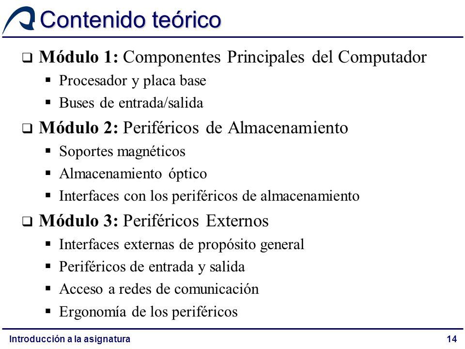 Contenido teórico Módulo 1: Componentes Principales del Computador