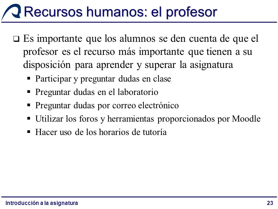 Recursos humanos: el profesor