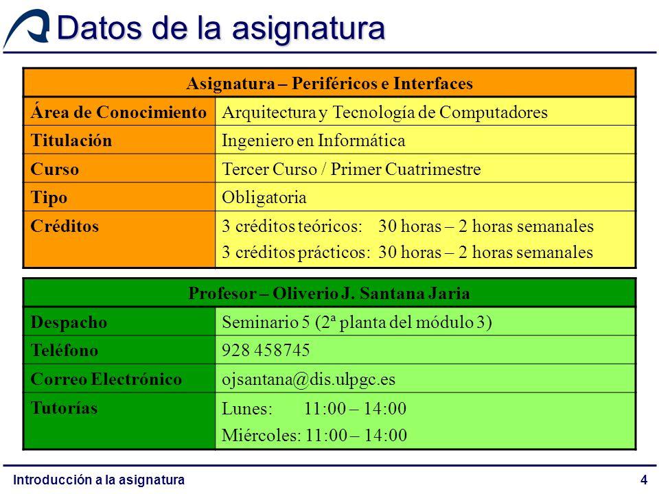 Datos de la asignatura Asignatura – Periféricos e Interfaces