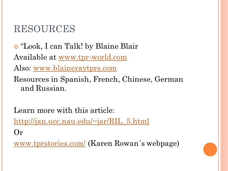 Resources Look, I can Talk! by Blaine Blair