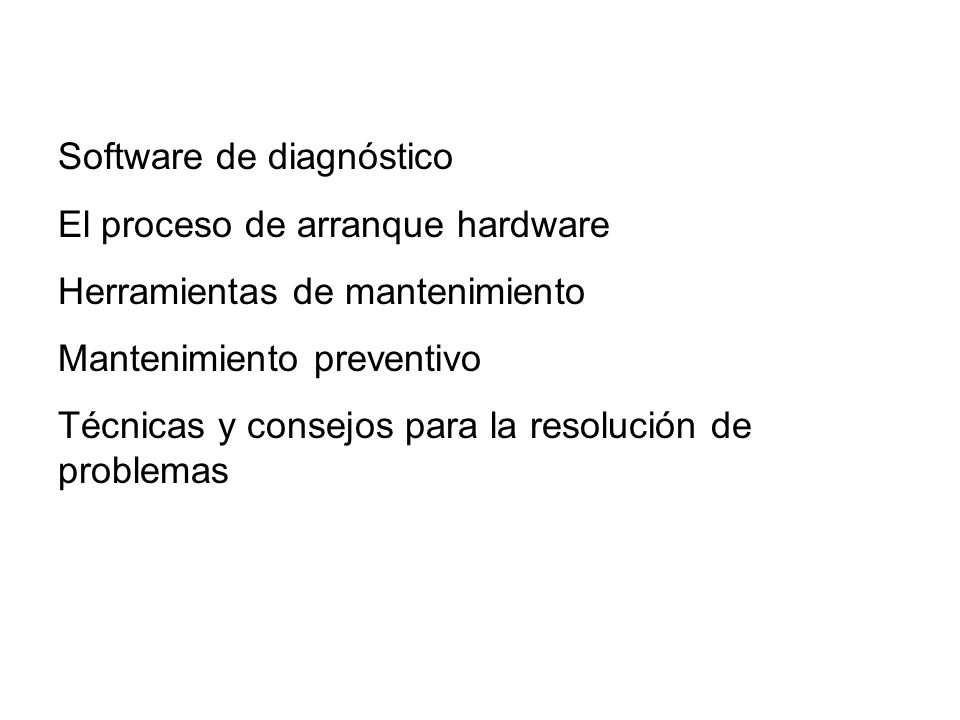 Software de diagnóstico