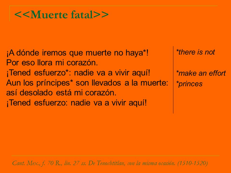 <<Muerte fatal>>
