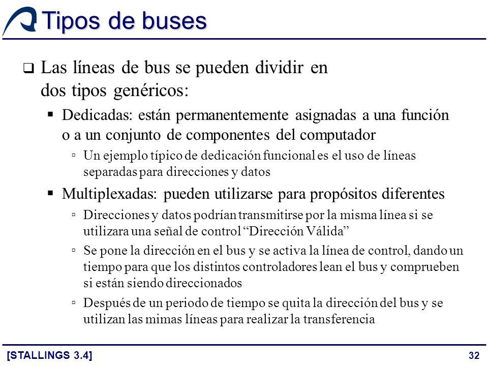Tipos de buses Las líneas de bus se pueden dividir en dos tipos genéricos: