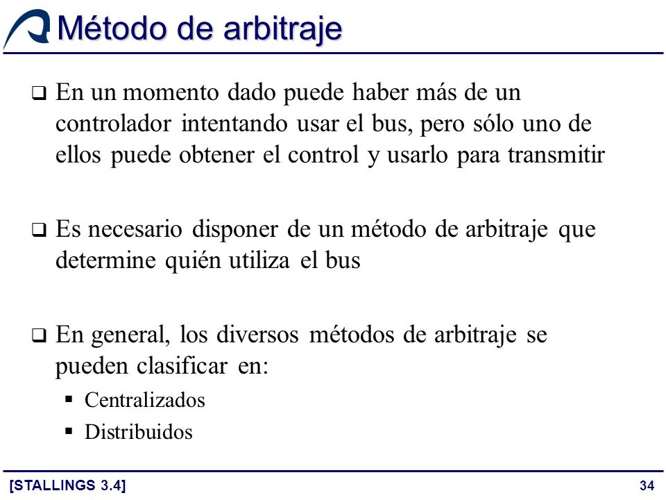 Método de arbitraje