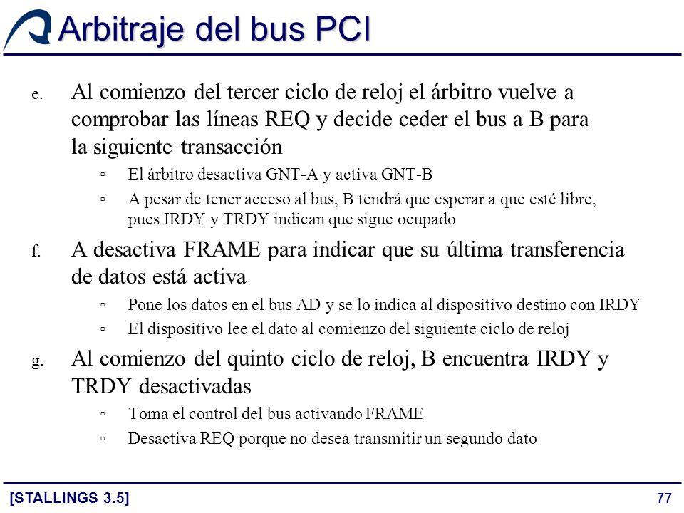 Arbitraje del bus PCI