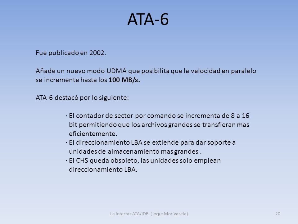 La interfaz ATA/IDE (Jorge Mor Varela)