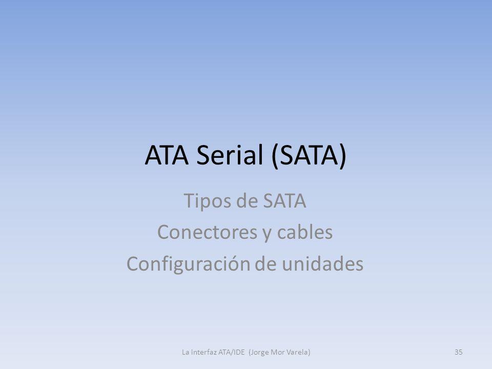 ATA Serial (SATA) Tipos de SATA Conectores y cables