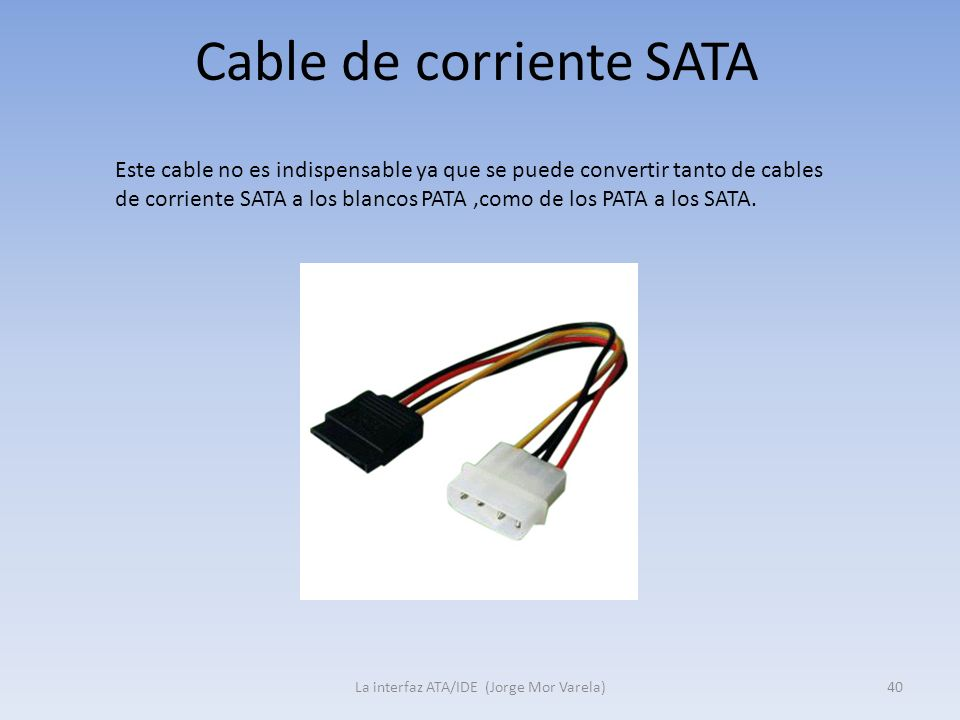 Cable de corriente SATA