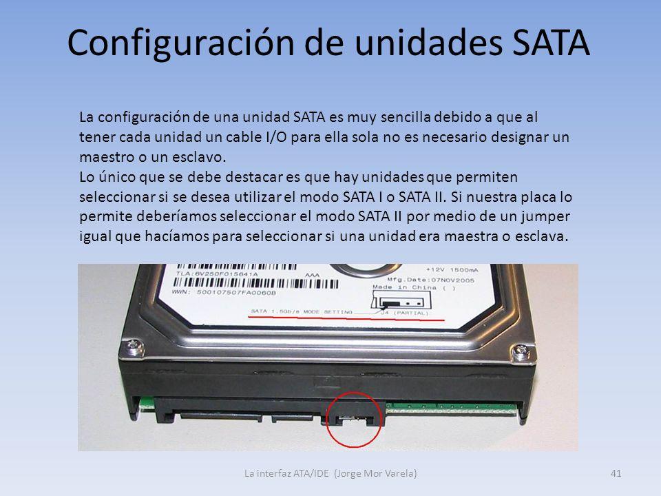 Configuración de unidades SATA