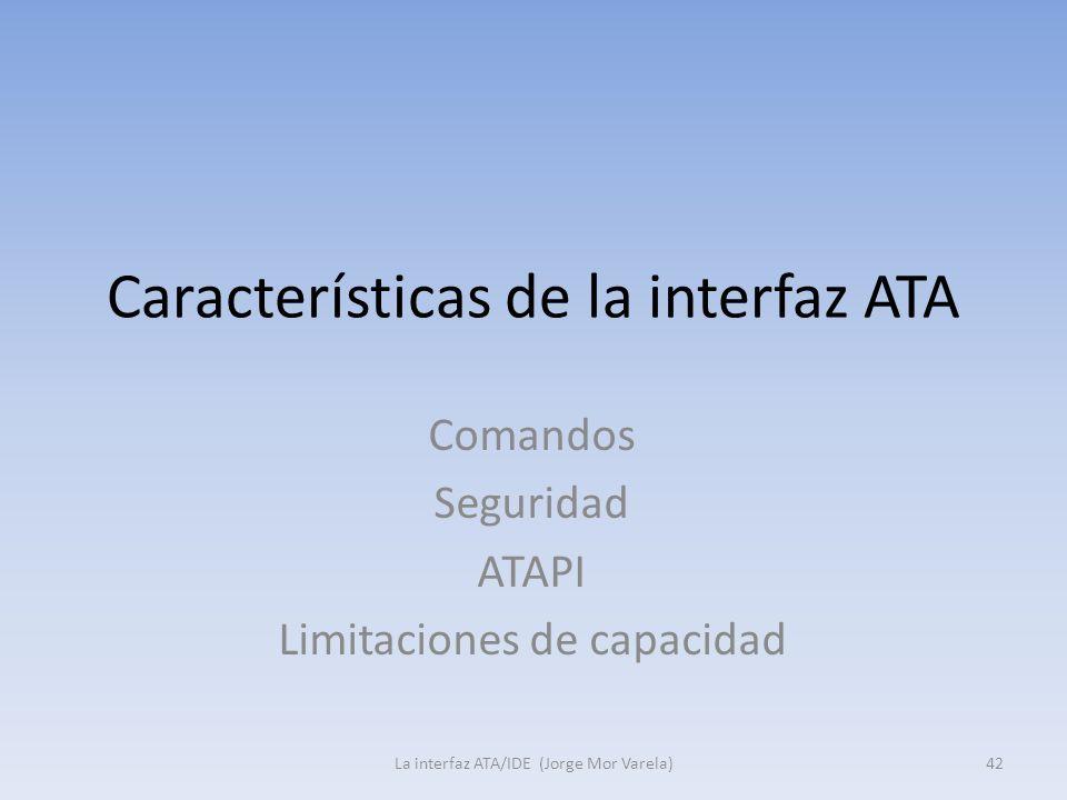 Características de la interfaz ATA