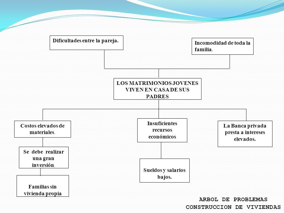 ARBOL DE PROBLEMAS CONSTRUCCION DE VIVIENDAS