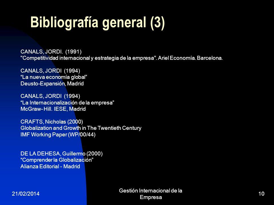 Bibliografía general (3)