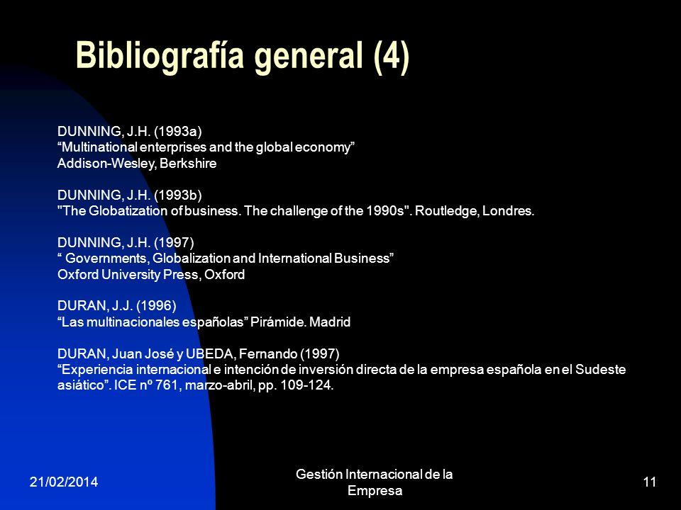 Bibliografía general (4)