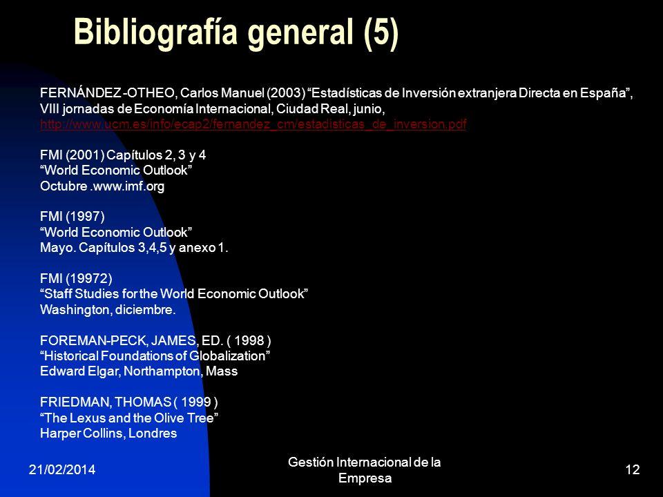 Bibliografía general (5)