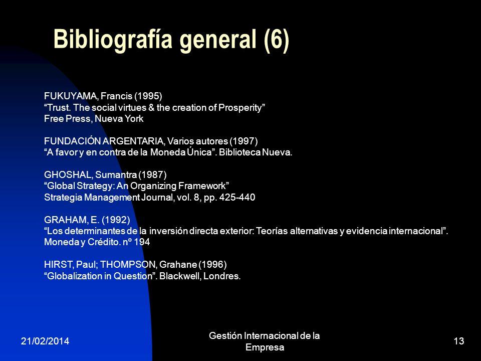 Bibliografía general (6)