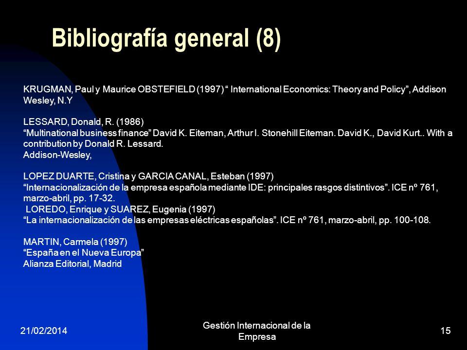Bibliografía general (8)