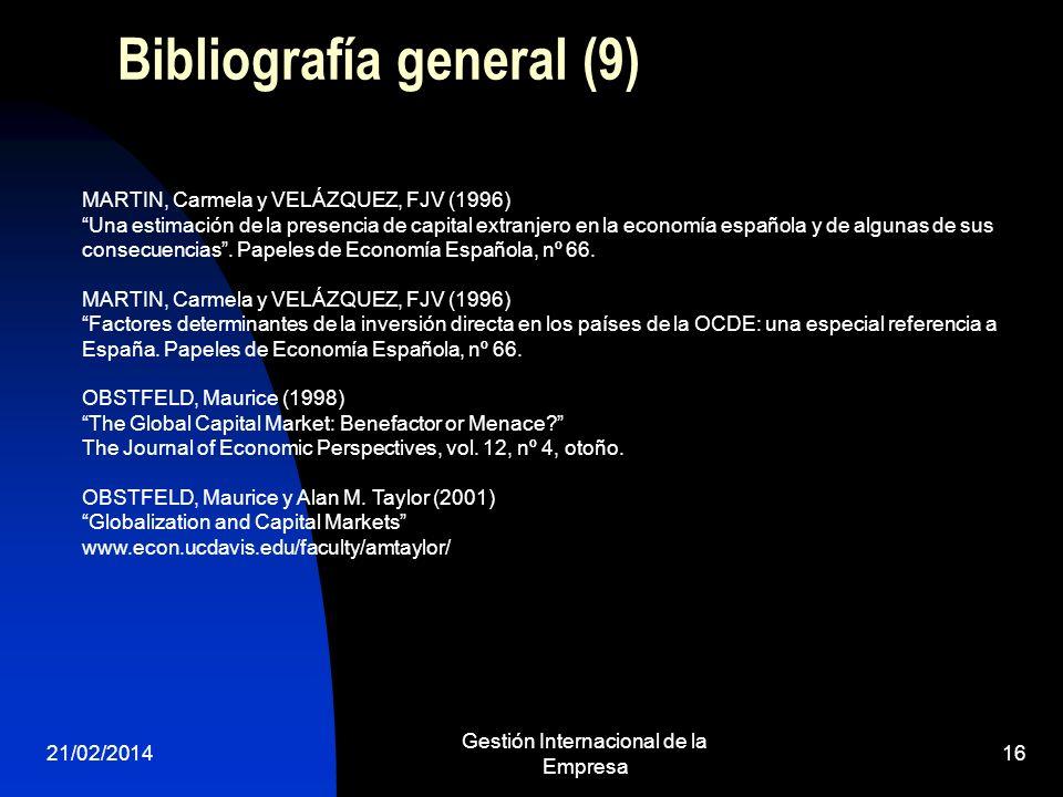 Bibliografía general (9)