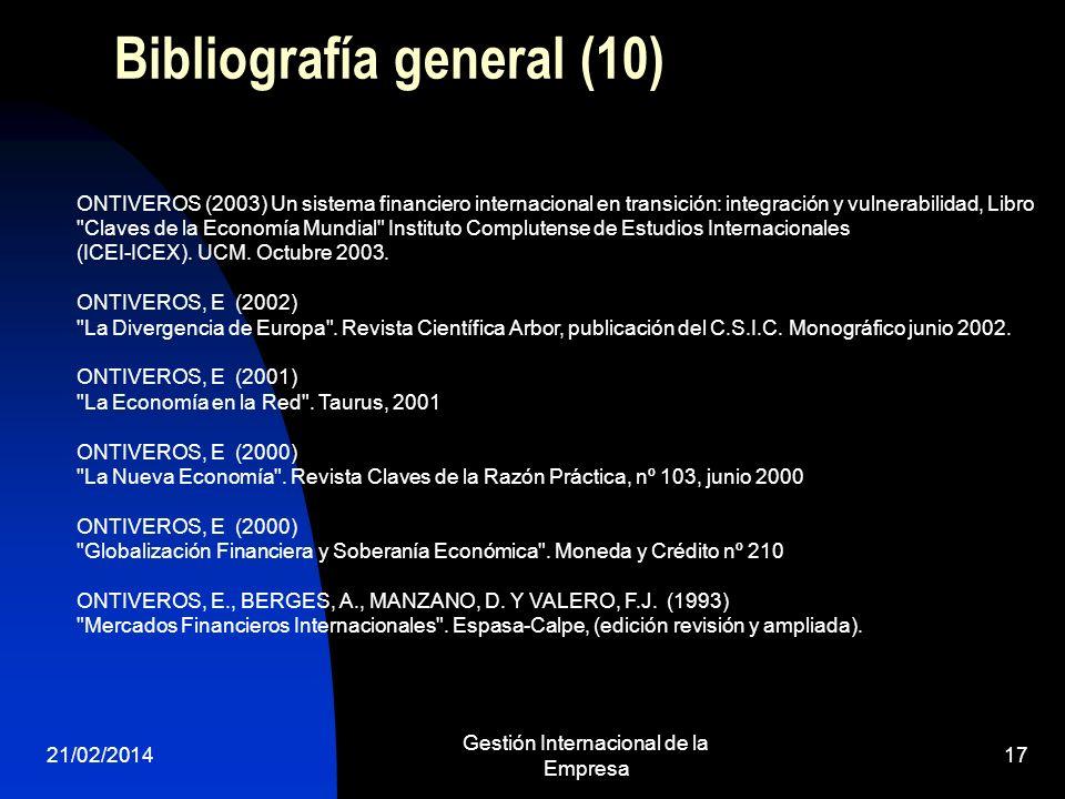 Bibliografía general (10)