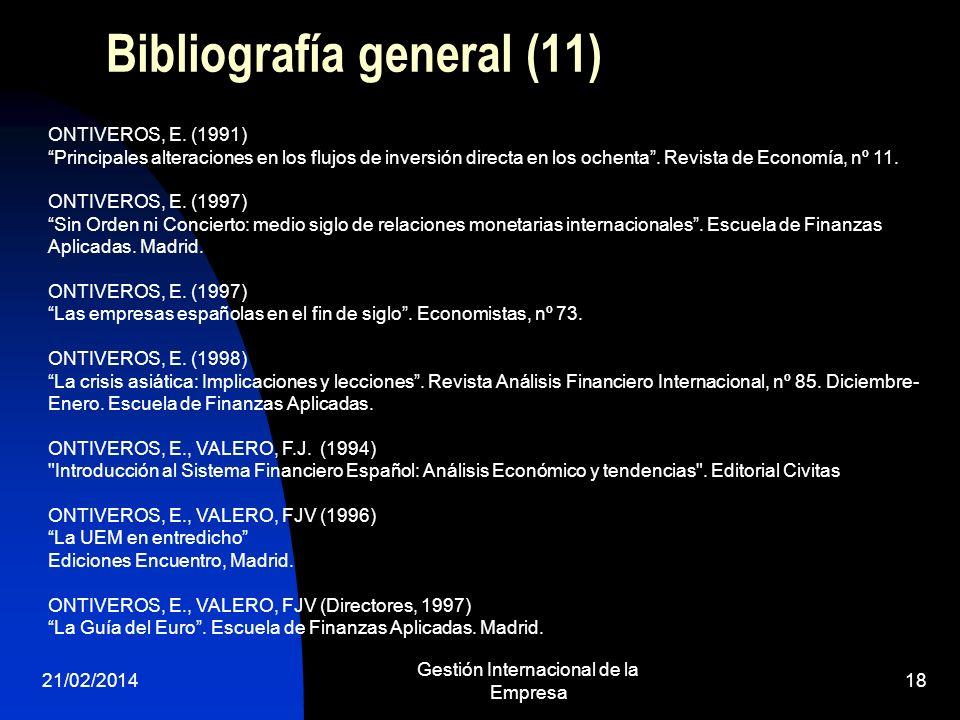 Bibliografía general (11)