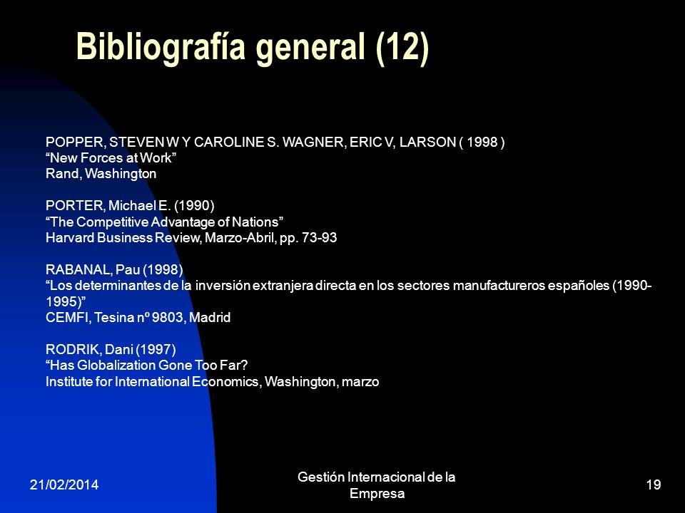 Bibliografía general (12)