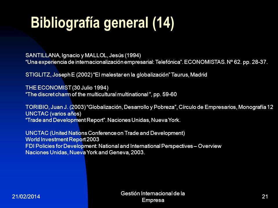 Bibliografía general (14)