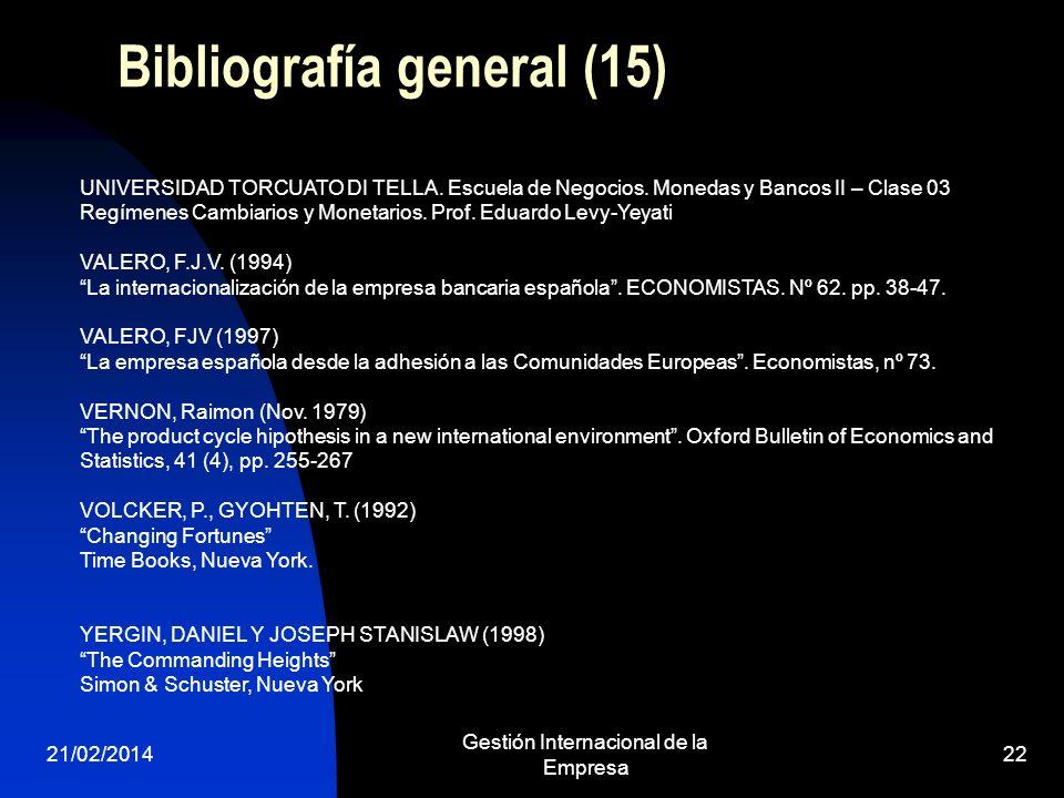 Bibliografía general (15)